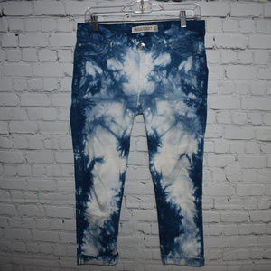 Zara Bleached Aged Ankle Jeans Size 8